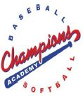 champions baseball and softball acadmey